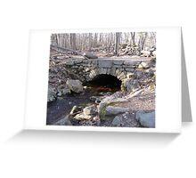 Old Mill Bridge in the Weetamoo Woods Greeting Card