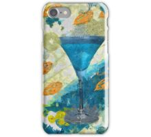 Blue Margarita Abstract iPhone Case/Skin