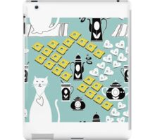 Cartoon cat background iPad Case/Skin