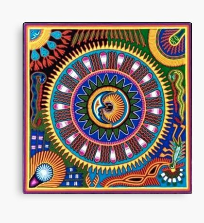 Psychedelic Mexican Folk Art Canvas Print