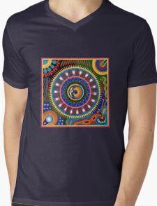 Psychedelic Mexican Folk Art Mens V-Neck T-Shirt