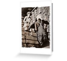 Black Women Load Gas Cans WWII Greeting Card