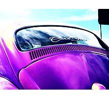 Purple Turtle ~ VW Beetle Photographic Print