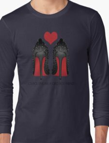 LOUBOUTINS ARE A GIRL'S BEST FRIEND WITH HEART - MARYLIN MONROE Long Sleeve T-Shirt