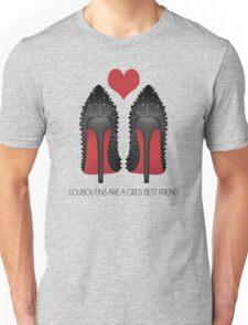 LOUBOUTINS ARE A GIRL'S BEST FRIEND WITH HEART - MARYLIN MONROE Unisex T-Shirt