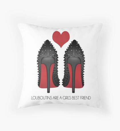 LOUBOUTINS ARE A GIRL'S BEST FRIEND WITH HEART - MARYLIN MONROE Throw Pillow