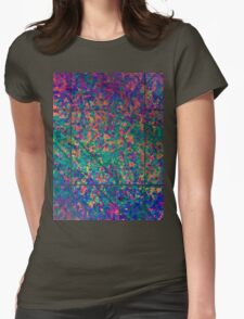 Grunge Painting Background Womens Fitted T-Shirt