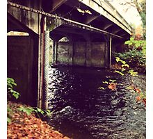 Under the Fall Bridge Photographic Print