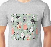 Naughty cat pattern Unisex T-Shirt