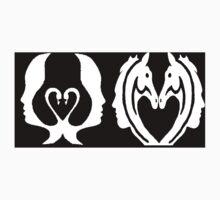Dark Swan to horse  Kids Tee