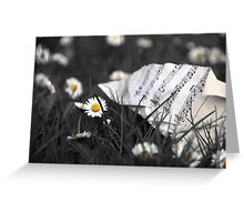 Sheet Music and Flowers Greeting Card
