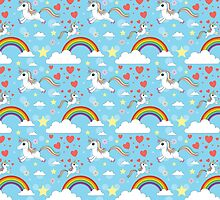 Unicorn Pattern Kids by Fangpunk