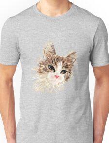 Brown cat painting Unisex T-Shirt