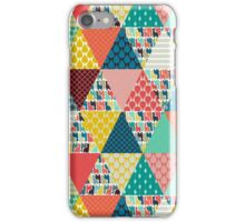 llama geo triangles iPhone Case/Skin