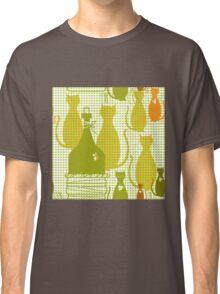 Cartoon cat background Classic T-Shirt