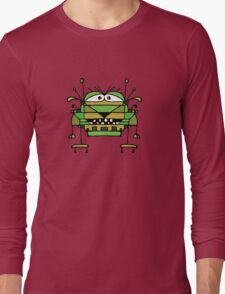 Funny Robot Cartoon Long Sleeve T-Shirt