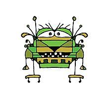 Funny Robot Cartoon Photographic Print