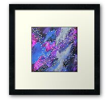 Painted Universe #2 | Hand Painted Galaxy, Space Framed Print