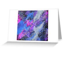Painted Universe #2   Hand Painted Galaxy, Space Greeting Card