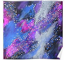 Painted Universe #2 | Hand Painted Galaxy, Space Poster