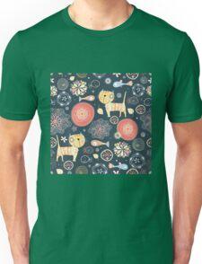 Funny cartoon cat design patternFunny cat pattern Unisex T-Shirt