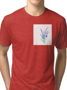 Hand draw flowers of lavender  Tri-blend T-Shirt