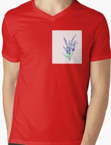 Hand draw flowers of lavender  Mens V-Neck T-Shirt
