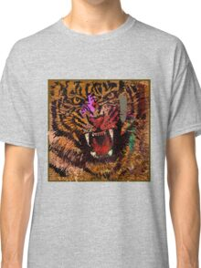 Hand draw tiger face Classic T-Shirt