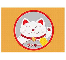 Lucky cat Photographic Print