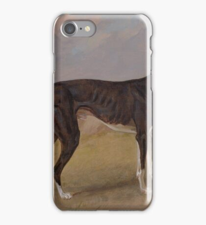 Turk, a greyhound, the property of George Lane Fox by George Garrard, iPhone Case/Skin
