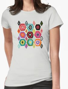 hex diamond white Womens Fitted T-Shirt