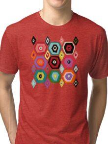 hex diamond red Tri-blend T-Shirt