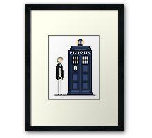 Pixel first Doctor Framed Print