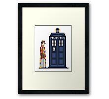 Pixel fourth Doctor Framed Print