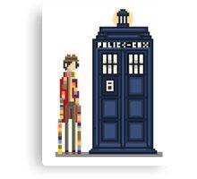 Pixel fourth Doctor Canvas Print