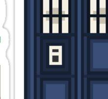 Pixel fifth Doctor Sticker