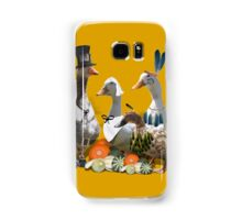 Pilgrims & Indians Thanksgiving Ducs/Geese Samsung Galaxy Case/Skin