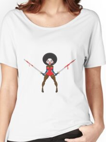 A scary evil clown. Women's Relaxed Fit T-Shirt