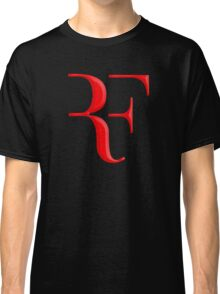 rf, roger federer, roger, federer, tennis, wimbledon, grass, tournament, ball, legend, sport, australia, nadal, net, cool, logo, perfect. Classic T-Shirt