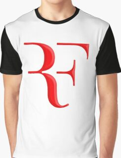 rf, roger federer, roger, federer, tennis, wimbledon, grass, tournament, ball, legend, sport, australia, nadal, net, cool, logo, perfect. Graphic T-Shirt