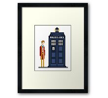 Pixel sixth Doctor Framed Print