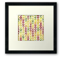 Hummingbird white Framed Print