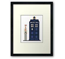 Pixel seventh Doctor Framed Print