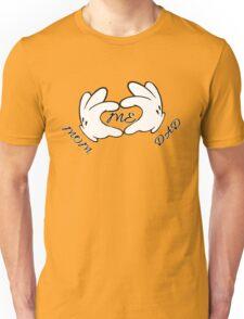 Mom, Dad, me, white hands Unisex T-Shirt