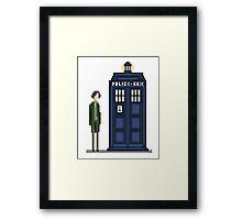Pixel eighth Doctor Framed Print