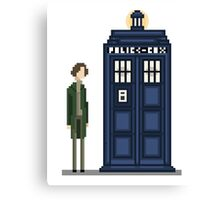 Pixel eighth Doctor Canvas Print