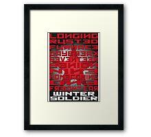 Winter Soldier Activation Words Framed Print