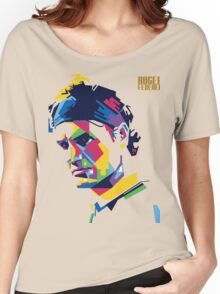 rf, roger federer, roger, federer, tennis, wimbledon, tournament, world champion, australia, us open, legend, nadal, roland garros, ball. Women's Relaxed Fit T-Shirt
