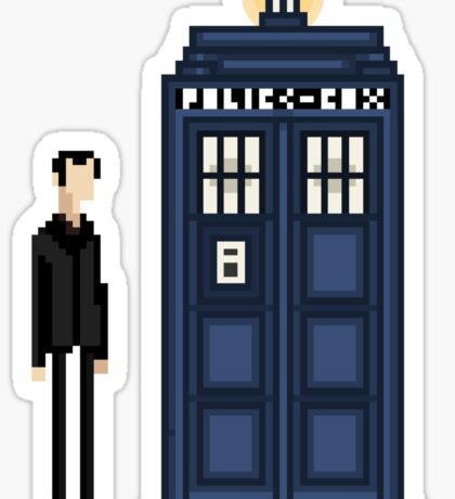 Pixel ninth Doctor Sticker