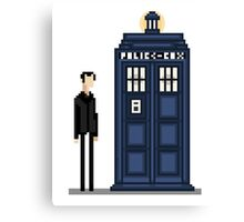 Pixel ninth Doctor Canvas Print